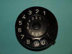 Nummernschalter komplett schwarz